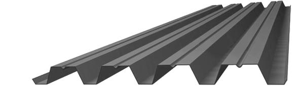 Профнастил оцинкованный 0,9х750х2000 (Н75)